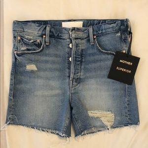 MOTHER denim cut off shorts - NWT!
